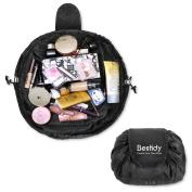 Bestidy Cosmetic Bag Portable Travel Makeup Bag Large Capacity Lazy Makeup Toiletry Bag Drawstring Design Perfect for Women Girls