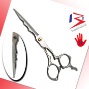 BeautyTrack Professional Barber Hair Cutting Scissors - Razor Sharp salon shears - J2 stainless Steel - Safety Pouch