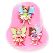 FABL Crew Sweet Little Angel DIY Silicone Baking Mould Chocolate Mould Cake Decorating Fondant Sugar Craft Mould 7.5 * 6.5 * 1 cm