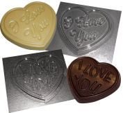 2 Heart Chocolate Moulds I Love You