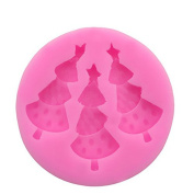 FABL Crew Creative Christmas Tree Cake Mould DIY Candy Mould Chocolate Cake Mould Baking Tool Cake Topper Silicone Mould