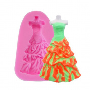 BEAUTY'S CASTLE DIY 3D Bridal Tube Top Dress Hand Soap Mould,Silicone Mould Fondant Mould,Chocolate Cake Mould Decorating,Fondant Baking Tool