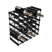 Zodiac ZWINE0073 30 Bottle 5 x 5 Black Ash Pine Wine Rack Kit