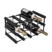 Zodiac ZWNRK4150 12 Bottle 4 x 2 Black Ash Pine/Assembled Wine Rack