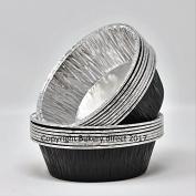 Bakery direct 130 Round Black Pukka pie foils/dishes