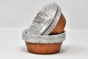 Bakery direct 130 Round Copper finish Pukka pie foils/dishes