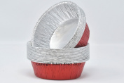 Bakery direct 130 Round Red Pukka pie foils/dishes