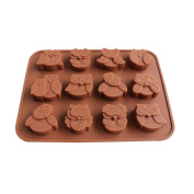 Prevently New Creative Owls Silicone Cake Bread Chocolate Jelly Candy Baking Mould Craft Cake Mould Ice Cube Tray