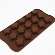 timeracing Star Chocolate Make Mould Cake Cookie Cutters Decorating Candy Silicone Cube Mould Kitchen Tool - Coffee