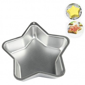 Valentines Day Gifts, Aluminium Star Shape Cake Mould, Cake Maker Nonstick Bakeware Cake, Cheesecakes Silver Colour Size 23cm X 23cm