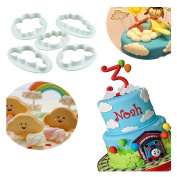 Lalang 5pcs Cloud Shape Cookie Cutter DIY Fondant Cake Mould Decorating Tool Kitchen Cooking Accessories