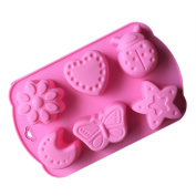 Dosige 6 Cavity Insect Moon Star Silicone Cake Mould Pan Decorating Tools Candy Moulds Baking Tools