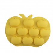 Dosige 1 Pcs 10-Cavity Apples Shaped Silicone Chocolate Candy Making Moulds, Baking Cups for Jello, Gummy, Cupcake
