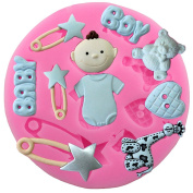 Dosige 1 Pcs Lovely Baby Shower Design Baking Party Moulds / Cake Decoration/ Ice Cube Moulds / Theme Moulds / Chocolate Moulds / Jelly Moulds / Candy Moulds