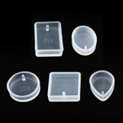 MultiWare 5pcs Silicone Pendant Mould Making Jewellery For Resin Necklace Mould Craft