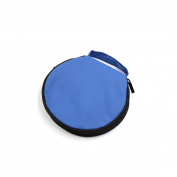 Blue Nylon Zipper Closure 20 Capacity CD DVD Storage Bag Holder Organiser