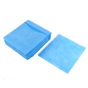 Unique Bargains Office Home DVD CD Plastic Double Side Compact Disc Storage Bag Blue 100 PCS