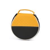 Black Yellow Round 20 Disc CD DVD Card Storage Organiser Holder Case Album Bag
