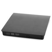 USB 3.0 Plastic External Floppy Disc DVD-RW Diskette CD Drive Black for Computer