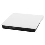 USB 3.0 Plastic External Floppy Disc DVD-RW Diskette CD Drive White for Computer