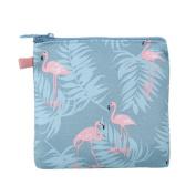 Dosige Cotton Waterproof Storage Bag Sanitary Napkin Bag Small Handbag Money Holders Coin Floral Purse for Women Girls