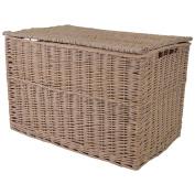 Rose Wash Wicker Extra Large Storage Hamper / Trunk / Basket / Toy Box / Gift Hamper