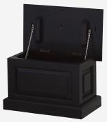 NES Furniture Solid Wood Storage Trunk, Mahogany, Chocolate