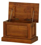 NES Furniture Solid Wood Storage Trunk, Mahogany, Light Pecan