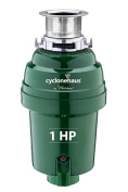 Cyclonehaus high efficiency kitchen garbage disposal with solid brass flange