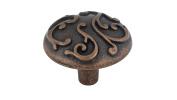 Richelieu Hardware - BP391460193 - Traditional Metal Knob - 3914 - Antique Copper Finish