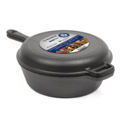 Westinghouse WFL3CC Select Series Seasoned Cast Iron 2.8l Dutch Oven with Skillet Lid -