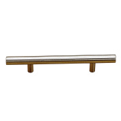 Richelieu Hardware - BP3487143170 - Contemporary Stainless Steel Handle Pull - 3487 - 143 mm - Stainless Steel Finish