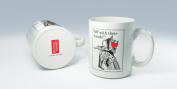 British Library Alice in Wonderland Ceramic Mug with Queen of Hearts Design