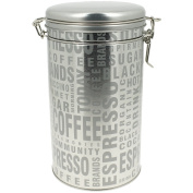Kitchen Storage Coffee Pot with Coffee Tag Words Silver
