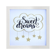 Sweet Dreams LED Light Up Mantle Plaque Love Gift