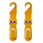 Pu Ran 2Pcs Cartoon Car Back Seat Headrest Hanger Hook for Bag Purse Grocery Clip Clasp