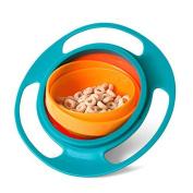 BuycheapDG Non Spill Feeding Toddler Gyro Bowl 360 Rotating Avoid Food Spilling for Baby Children