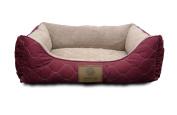 American Kennel Club Orthopaedic Circle Stitch Cuddler Pet Bed, Grey