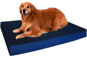 Dogbed4less Orthopaedic Memory Foam Dog Bed for Small, Medium to Large Pet, Waterproof Internal Cover with Durable Blue Denim Cover and Extra Bonus External Case - 7 Sizes