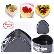 Winkey Cake Mould, Non-Stick Love Heart Shape Cake Pan Tin DIY Cake Mould Baking Cheese Bread Tray