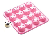 NiceButy Piggy Collection Non-Stick Silicone 16-Cup Chocolate Mould, Pink