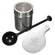 Pu Ran 16Pcs Chocolate Shaker Duster Cappuccino Coffee Stencils Spoon Coffee Kit Set