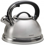 Klaus Hill Stainless Steel Whistling Kettle Teapot Kettle 2.8 Litre Compact Camera 7203