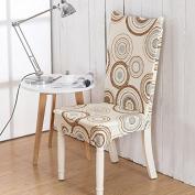 Bureze Elegant Plush Flower Elastic Stretch Chair Seat Cover Computer Dining Room Home Wedding Decor