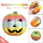 Stress Relief Squeeze Toys,MORWIND Cute Decompression Anxiety Relieving Rainbow Pumpkin Scented Toy, Super Slow Rising,Great Christmas Gift for Kids & Adults