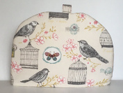 Clarke & Clarke Melodie Natural Bird Butterfly Print Large Tea Cosy