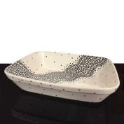 Hand-Decorated Polish Pottery Casserole Baking Dish 31 x 25 x 7.2 cm Decor 1185