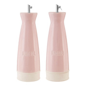 Coordinating Set Of Oil And Vinegar Jura Dispensers With Stainless Steel Nozzles