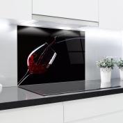 Kitchen Glass Splashback Printed Panels Heat Resistant Toughened Glass 90x65cm