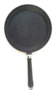 romagnaise Style Deep Frying Pan with Induction Bottom Lava Stone Coating cm.28